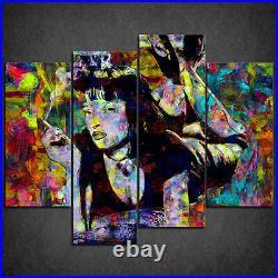 Colourful Pulp Fiction Mia Acrylic Cascade Canvas Print Wall Art Ready Hang