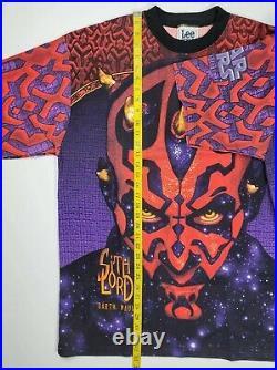 Deadstock Star Wars Episode 1 Darth Maul All Over Print Lee Sport XL Vtg Sith