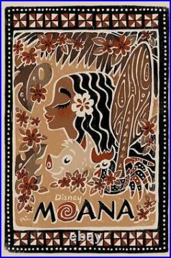 Disney's Moana Limited Multi-Color Screen Print Art Poster #195 20 x 30