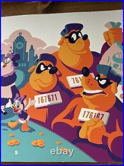 Duck Tales Art Print Movie Poster By Tom Whalen Signed Rare COLOR PROOF 1/1