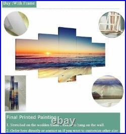 Framed John Wick Chapter Movie Keanu 5 Panel Canvas Wall Art Print HD Home Decor