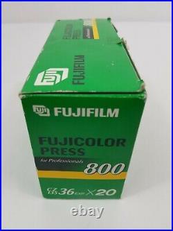 Fuji Fujicolor Press Pro ISO 800 20 Rolls 35mm Film 36 Exp Color Print Expired