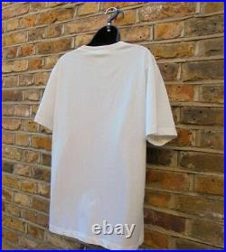 Gucci Mens Mystic Cats Graphic Print Off White Short Sleeve T-Shirt SZ Large NEW