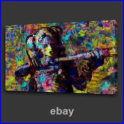 Harley Quinn Colourful Acrylic Style Wall Art Canvas Print Picture Ready To Hang