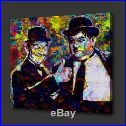 Iconic Film Laurel And Hardy Acrylic Colourful Wall Art Picture Canvas Print