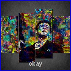 Iconic Scarface Colourful Cascade Canvas Print Wall Art Picture Ready Hang