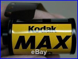 Kodak MAX ISO 400 27 Deg 35mm Roll Color Print Negative Film 24 Exposures C41