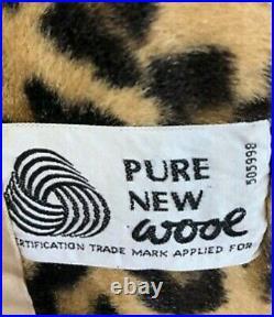 Leopard print fur & camel wool belted coat limited edition coat size 14