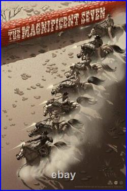 Magnificent Seven Movie Film Red Brick Color Poster Giclee Print Art 24x36 Mondo