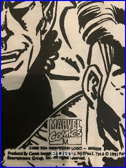Marvel 1990s Shirt Vintage X Men Mega Print Size L Black/White Deadstock