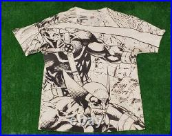 Marvel 1990s Shirt Vintage X Men Mega Print Size XL Black/White
