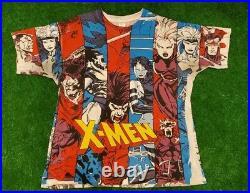 Marvel 1993 shirt Vintage X Men Mega Print Size XL Collage