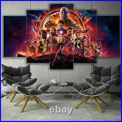 Marvel Avengers Endgame Movie Poster 5 Piece Canvas Print Framed Wall Art Decor