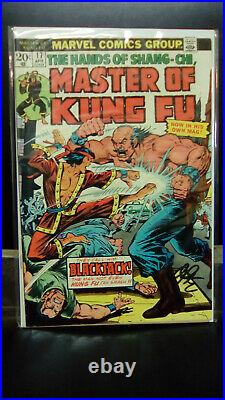 Master of Kung-Fu #17,1st print, 1st Solo issue title! Signed by Jim Starlin