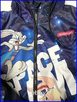 Mens Members Only Space Jam Puffer Jacket Coat All Over Print LOLA Large X-Large