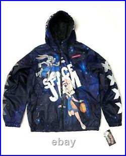 Mens Members Only X Space Jam Puffer Jacket Coat All Over Print AOP LOLA Large L