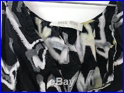 Miu Miu Multicoloured Printed Cropped Top Camisole Lingerie Button Down Shirt