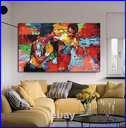 Modern Movie Poster Boxing Sports Colorful Canvas Hd Print Wall Art Dining Room