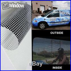 Perforated One Way Vision Window Vinyl Film Fly Eye Wrap Car Print Tint 2 Colors