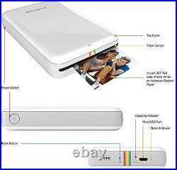 Polaroid ZIP Mobile Printer wZINK Zero Ink Printing Technology Compatible wi