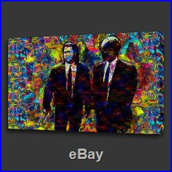 Pulp Fiction Film Acrylic Colourful Style Wall Art Canvas Print Ready To Hang