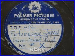 Rare Vintage Palmer Productions 16 mm film Picturesque Japan Color Sound Print