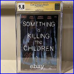 Something Is Killing Children 1 First Print Signed CGC 9.8 Immaculate Case