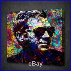 Steve Mcqueen Acrylic Colourful Wall Art Picture Canvas Print Ready To Hang