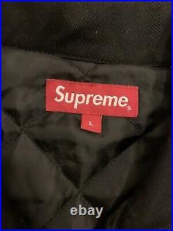 Supreme Dragon Work Jacket In Black Size Large