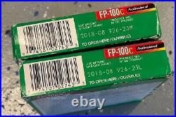 TWO (2) Fujifilm Instant Color FP-100C Professional Film 10 Print Ex 8/2018