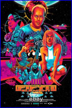 The Fifth Element Vibrant Color Limited Edition Film Screen Print