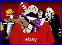 The Rocky Horror Show Classic Movie Colourful Wall Art Canvas Picture Print