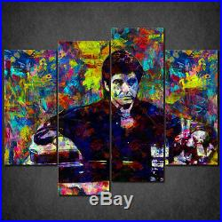 The Scarface Tony Colourful Cascade Canvas Print Wall Art Picture Ready Hang
