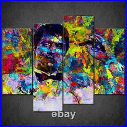 Tony Montana Scarface Colourful Acrylic Cascade Canvas Print Wall Art Ready Hang