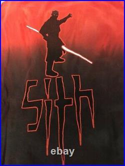 Vintage Star Wars Ep 1 Darth Maul All Over Print Sith (XL) Movie Promo T-Shirt