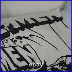 Vtg 1993 Marvel Comics X-Men All Over Mega Print T Shirt XL Black White Flaws